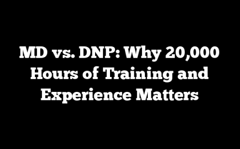 MD vs. DNP: Why 20,000 Hours of Training and Experience Matters